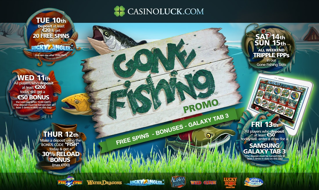 Gone Fishing promo week at Casino Luck