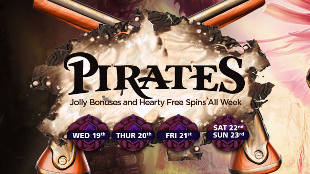 Daily free spins and bonuses at NextCasino's Pirates promotion