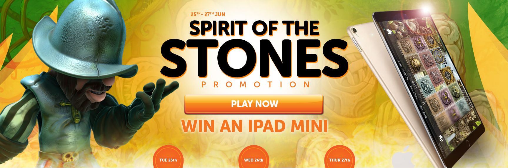 Claim daily free spins and win an iPad Mini