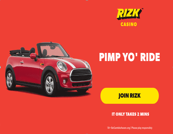 Win a Mini Cooper Cabriolet and more at Rizk