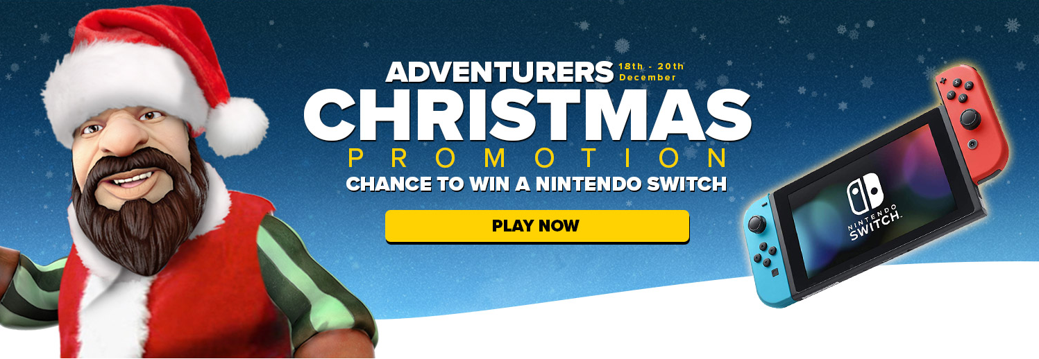 Adventurers Christmas Promotion, win a Nintendo Switch