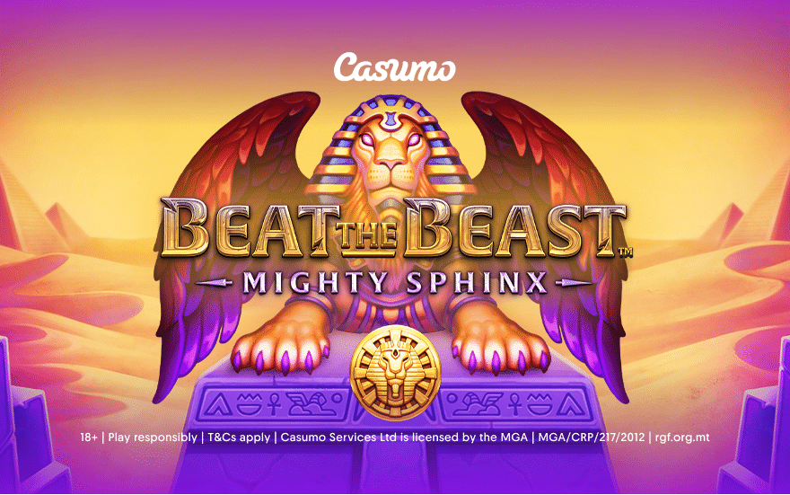 Beat the Beast – Mighty Sphinx, second of five slot releases