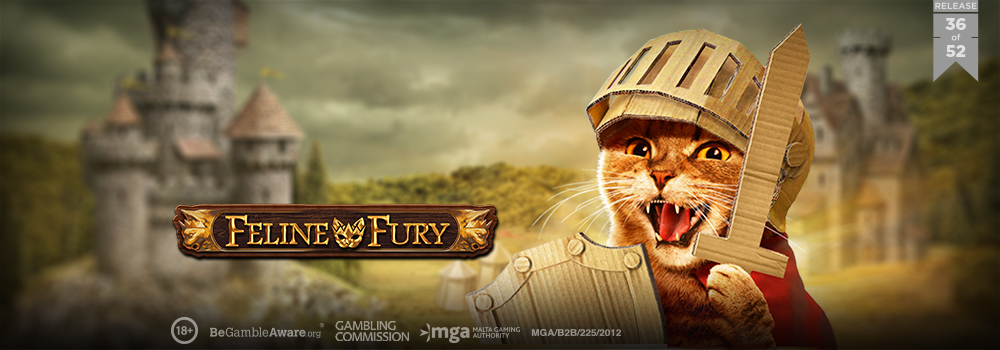 New from Play'n Go, Feline Fury with extra expanding wilds