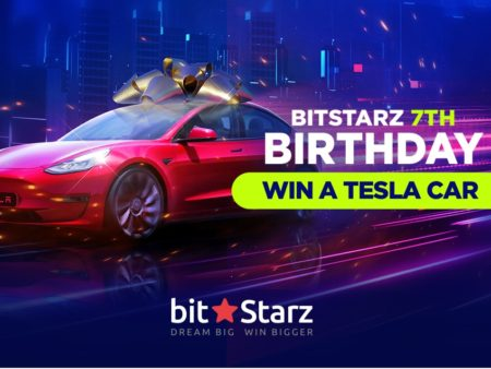 Celebrate Bitstarz and win a Tesla Model3