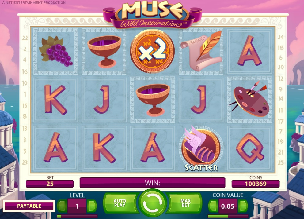 Slot game Muse, Wild Inspiration, now at Betsafe!