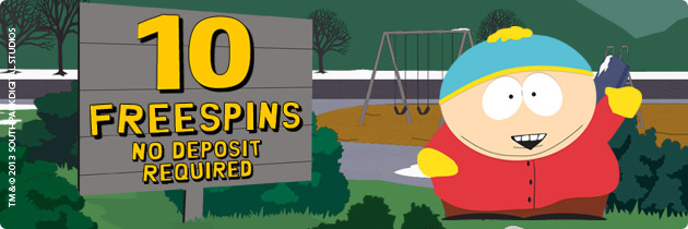 10 free spins on South Park for all new players