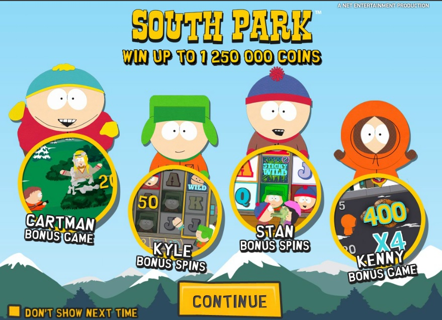 South Park slot game now at Betsafe