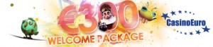 CasinoEuro welcome bonus package