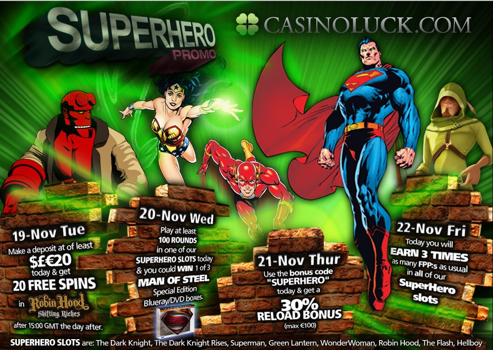 Superhero week at CasinoLuck