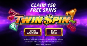 Twin Spin, 150 free spins
