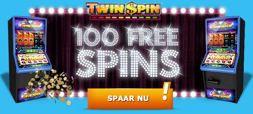 Collect 100 free spins for Twin Spin