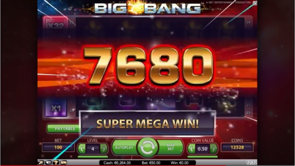 Big Bang, new NetEnt slot for January 2014