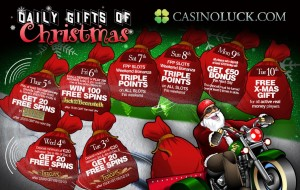 CasinoLuck, Daily gifts of Christmas