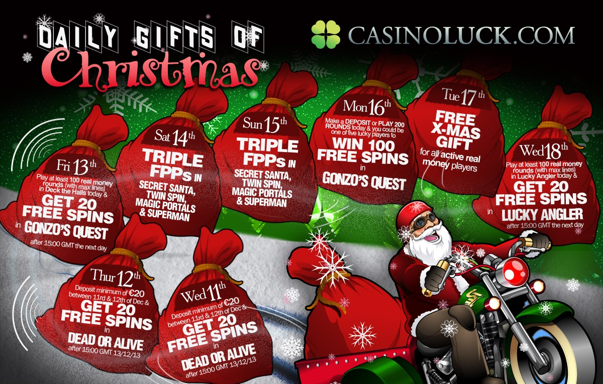 CasinoLuck's new Christmas calendar