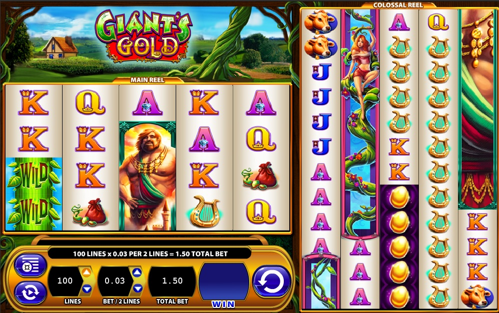 Giant's Gold and Super Jackpot Block Party slots