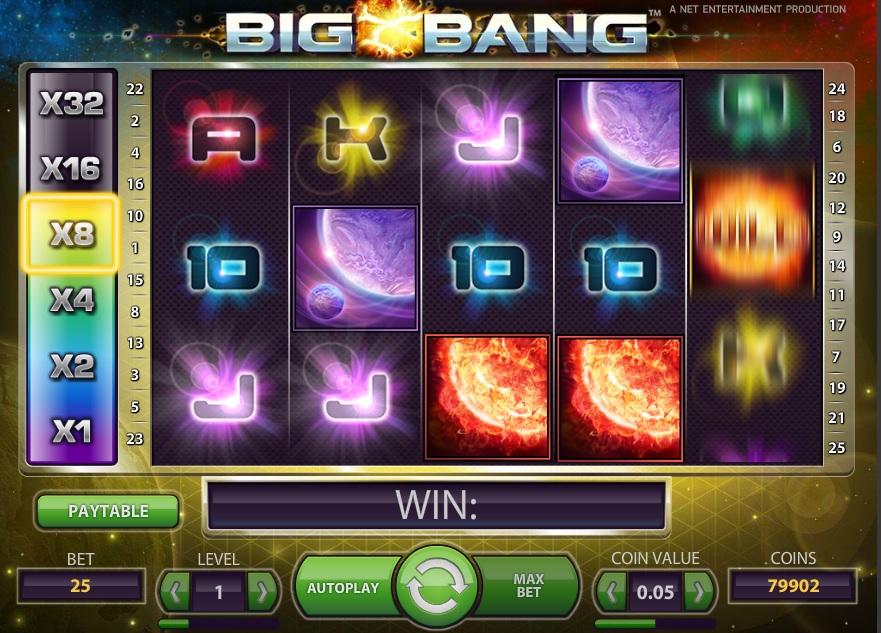Big Bang, new NetEnt slot, now at Betsafe