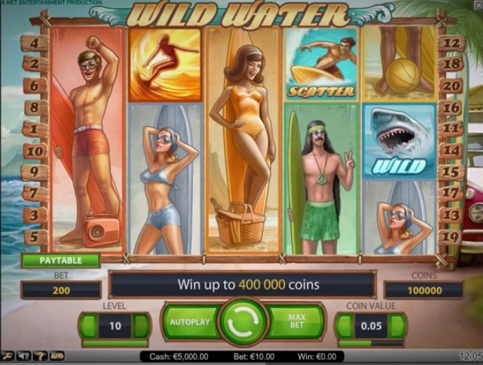 Wild Water, NetEnt slot release for March