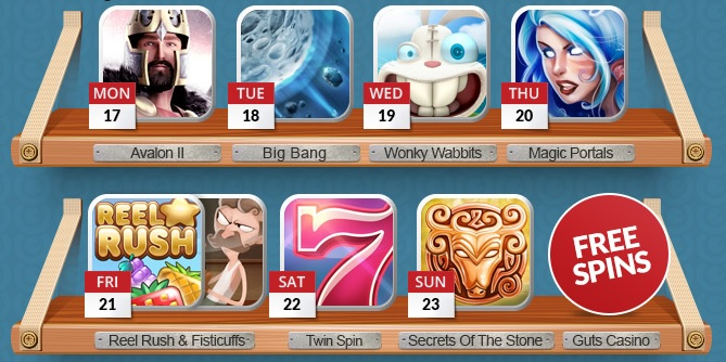 New Game Week, claim 145 free spins at Guts