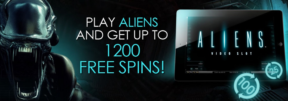 1200 free spins on Aliens at CasinoEuro
