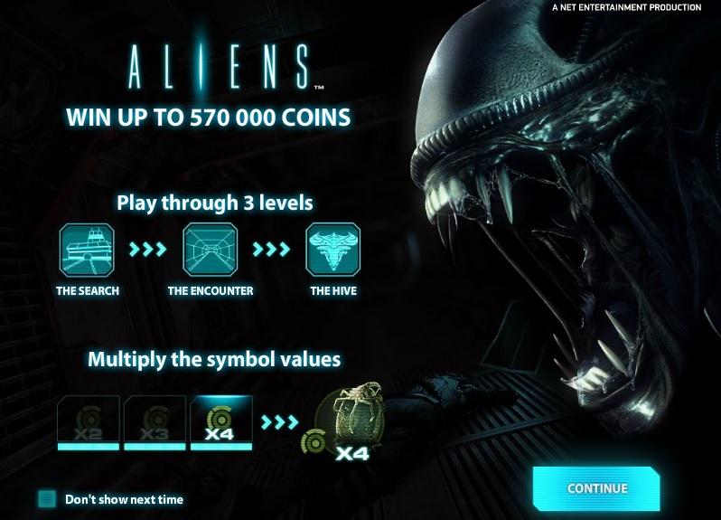 Aliens slot game live at Betsafe