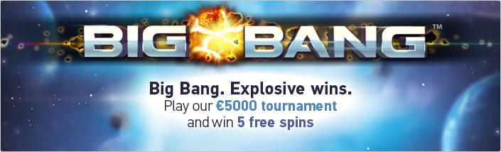 Big Bang slot tournament at Paf