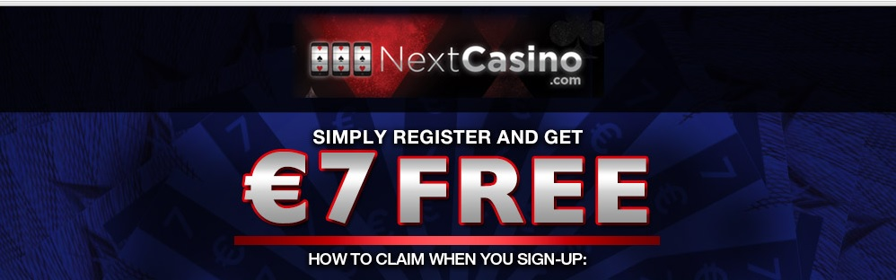 NextCasino offering 7 no deposit to all new players