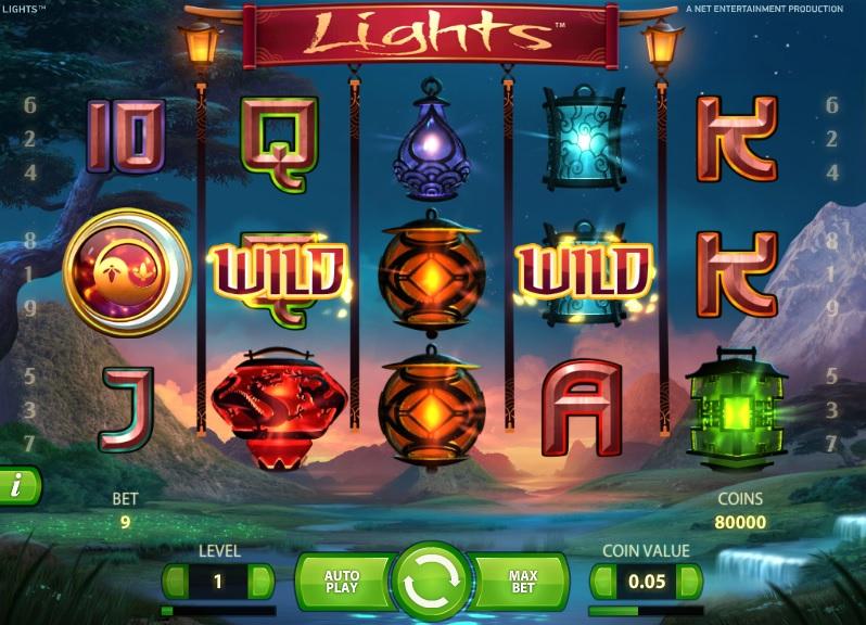 netent slot lights