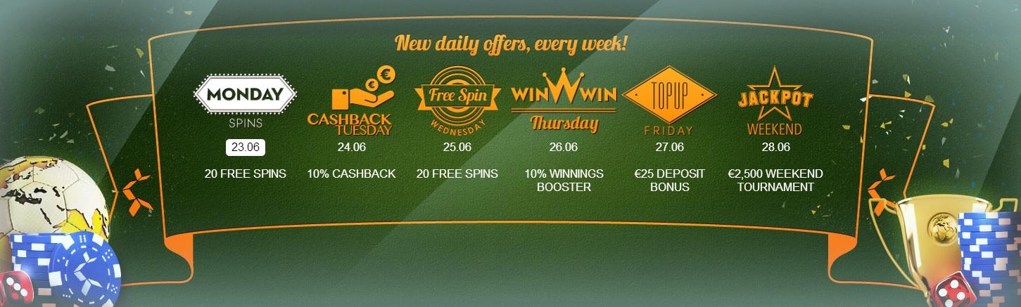 Betsson, new week of casino treats