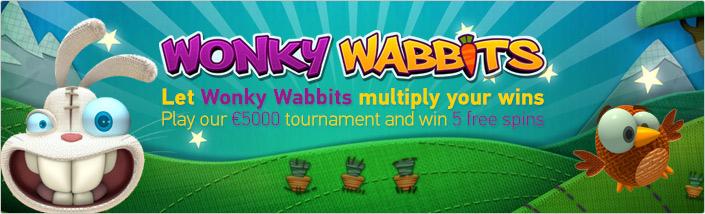 Wonky Wabbits slot tournament at Paf Casino