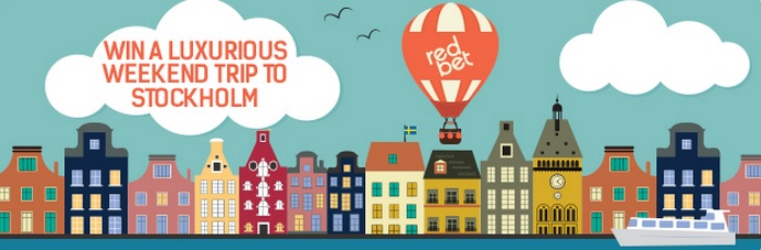 Redbet, win a weekend to Stockholm