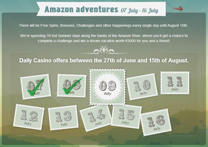 Thrills, 37 daily promotions available