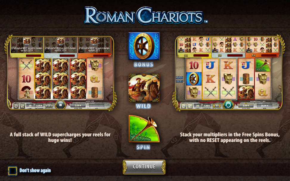 Roman Chariots, live at several NetEnt casinos