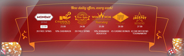 Daily casino treats at Betsson, week 39