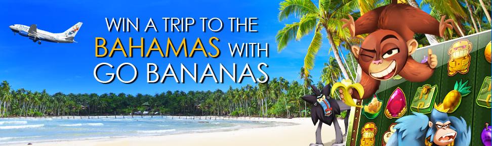 Play Go Bananas!, win a trip to The Bamahas at CasinoEuro