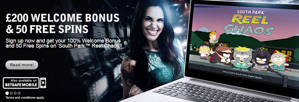New welcome bonus at betsafe, including 50 free spins