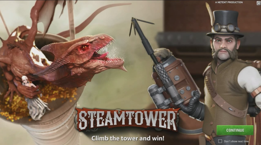 Steam Tower, upcoming NetEnt slot preview