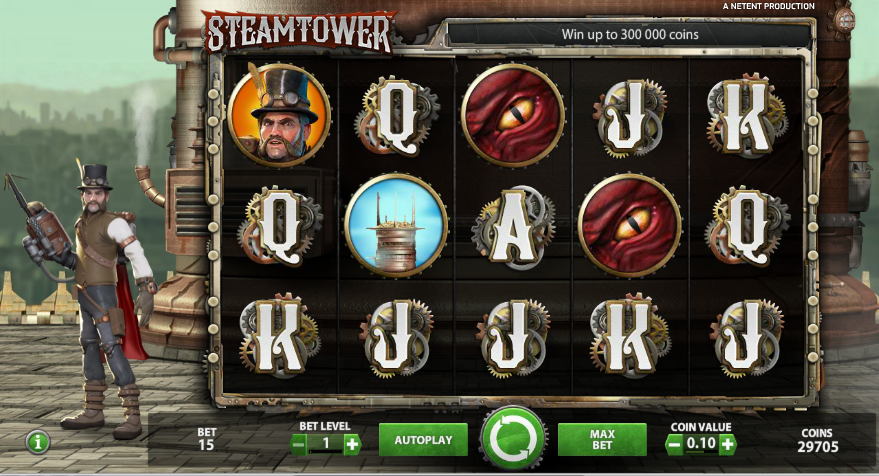 Play Steam Tower, now available at Betsafe