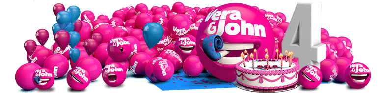 Celebrate 4 years of Vera & John with 44 free spins on Starburst