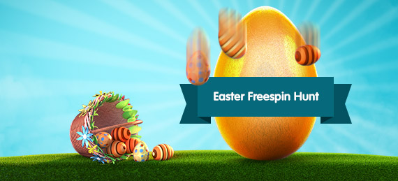 Join the Easter Egg Hunt at Casino Room for free spins