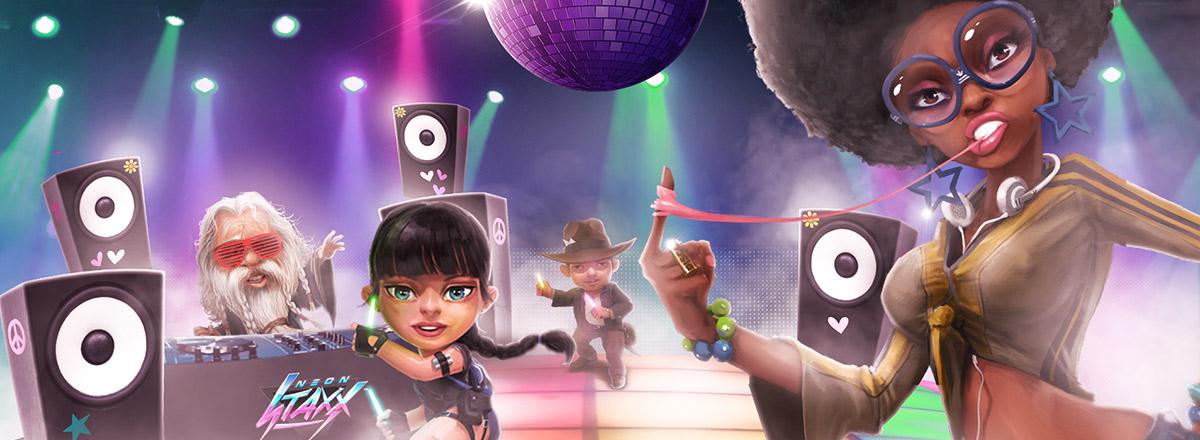 Casino Saga, 125 free spins on Neon Staxx a day