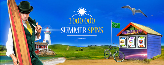 A million free spins available at Mr Green