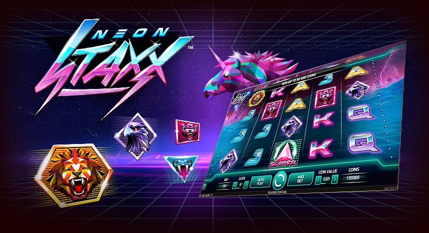 Earn 150 free spins on new Neon Staxx slot game