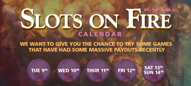 Slots on Fire promotion at CasinoLuck
