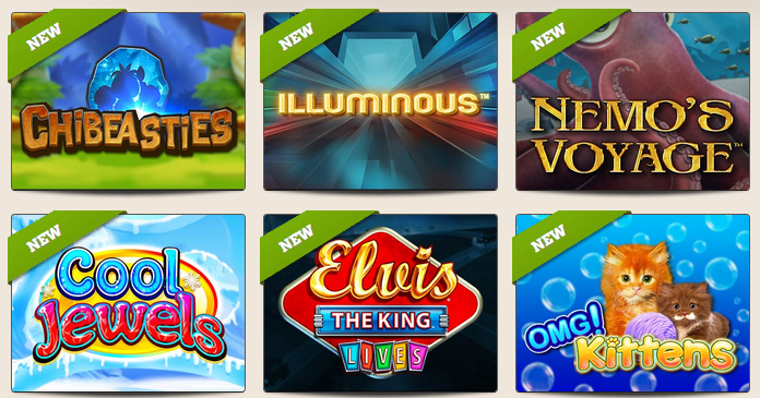 Many new slot releases at Leo Vegas