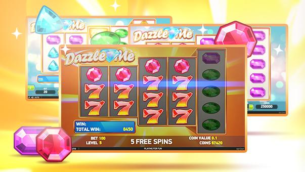Instant free spins on Dazzle Me slot game at Redbet