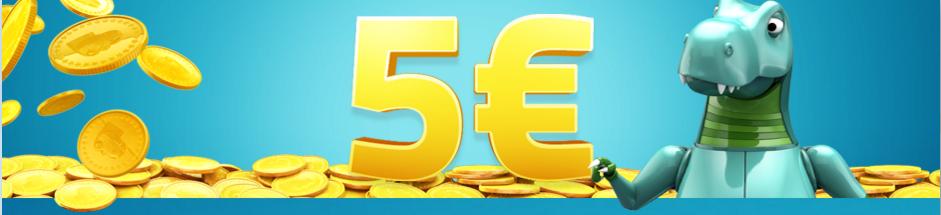 5 Euro free, no deposit needed at LuckyDino