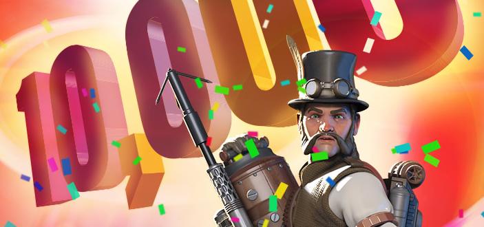 10.000 free spins giveaway, NextCasino