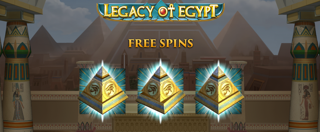 Legacy of Egypt, new from Play'n Go