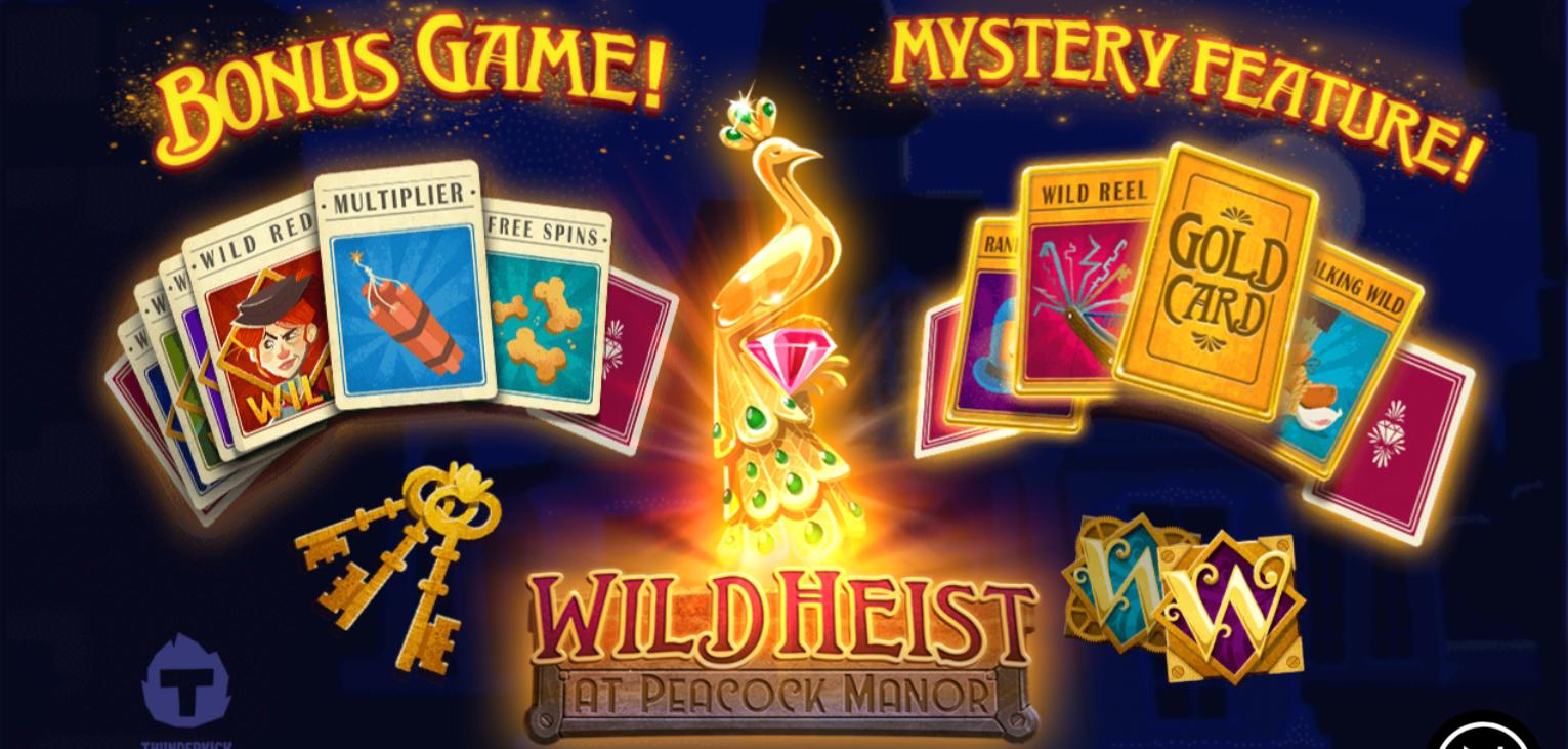 Wild Heist at Peacock Manor, new from Thunderkick