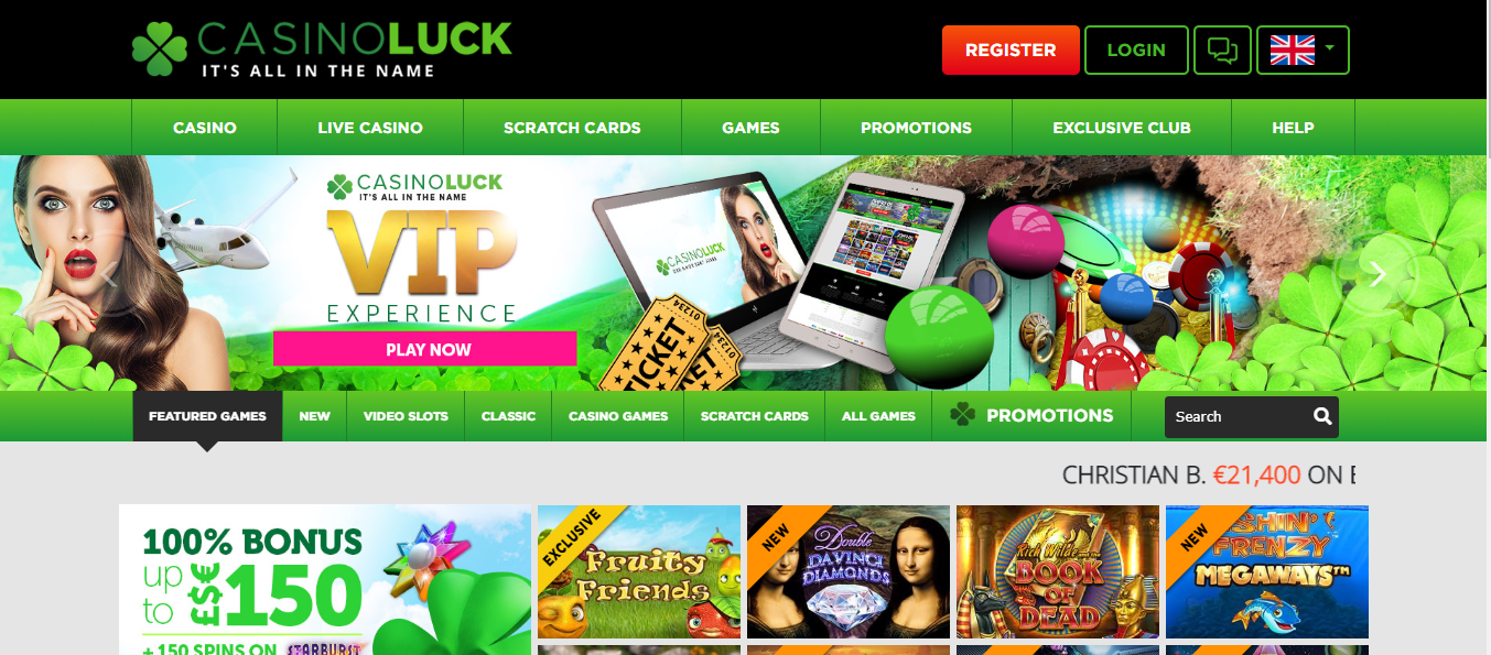New design and look for CasinoLuck